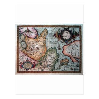 vintage libre map.jpg viejo imprimible tarjetas postales