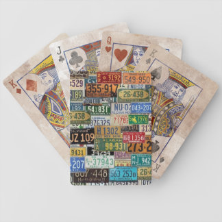Vintage License Plates Bicycle Playing Cards
