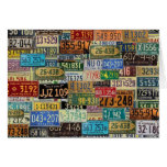 Vintage License Plates Cards