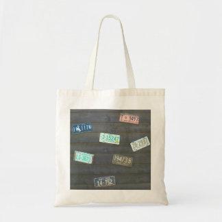 Vintage License Plates Tote Bag
