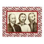 Vintage, líderes de la revolución 1774 tarjeta postal