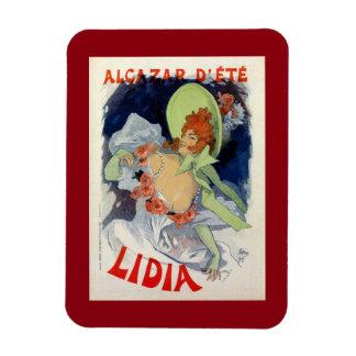 Vintage Lidia Concert Cafe Paris Summer Alcazar Rectangular Photo Magnet