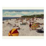 Vintage Lido Beach Sarasota Florida Postcard