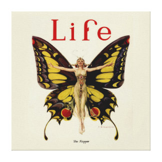 Vintage Life Flapper Butterfly 1922 Canvas Print