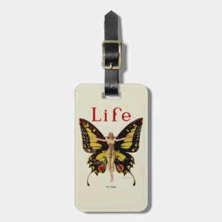 Vintage Life Flapper Butterfly 1922 Luggage Tags