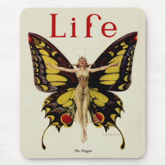 Vintage Life Flapper Butterfly 1922 Mouse Pad