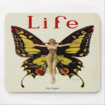 Vintage Life Flapper Butterfly 1922 Mouse Pads