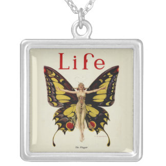 Vintage Life Flapper Butterfly 1922 Custom Necklace