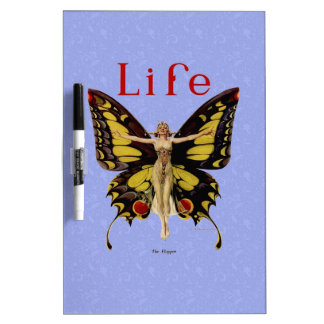 Vintage Life Flapper Butterfly Dry-Erase Board