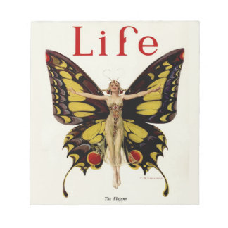 Vintage Life Flapper Butterfly Notepad