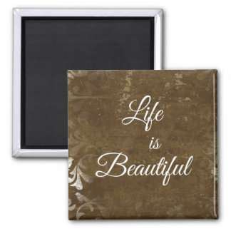 Vintage Life is Beautiful Quote Magnet