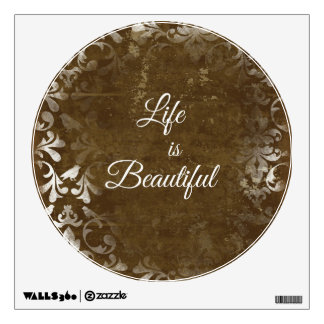 Vintage Life is Beautiful Quote Wall Graphics