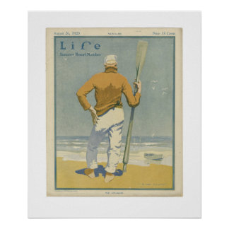 Vintage Life Magazine Cover Poster 1920
