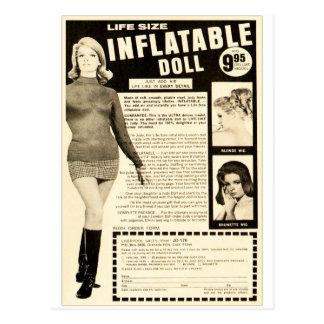 Vintage Life-size Inflatable Doll Advertisement Postcard