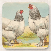 "Vintage ""Light Brahama Chicken"" Cork Coaster"
