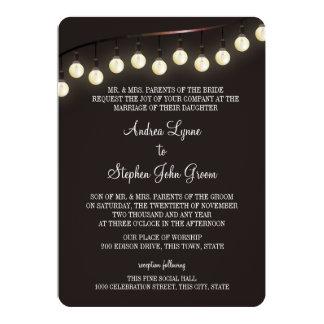 Vintage Light Bulbs Wedding Card
