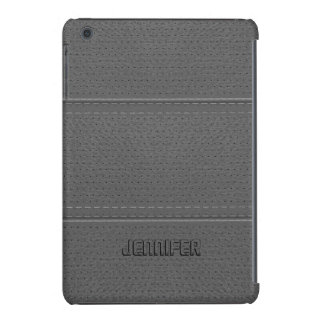 Vintage Light Gray Worn-Out Faux Leather Look iPad Mini Covers