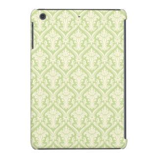 Vintage Light Green Damask Pattern iPad Mini Cases
