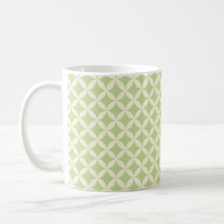 Vintage Light Green Diamonds Pattern Mug