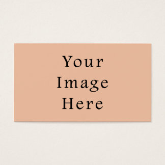 Vintage Light Peach Pink Color Trend Template Business Card