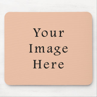 Vintage Light Peach Pink Color Trend Template Mouse Pad