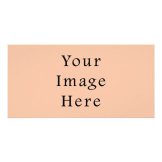 Vintage Light Peach Pink Color Trend Template Photo Card