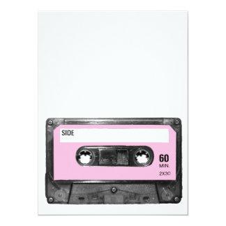 Vintage Light Pink Cassette Card