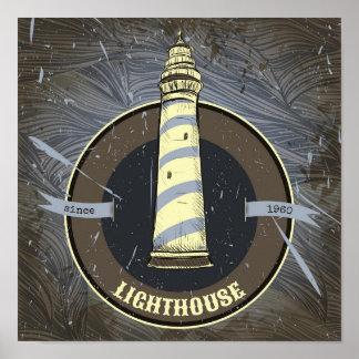 Vintage Lighthouse | 1960 Poster