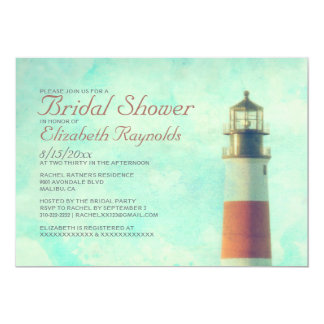Vintage Lighthouse Bridal Shower Invitations Personalized Invite