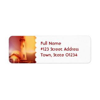 Vintage Lighthouse Mailing Label Return Address Label