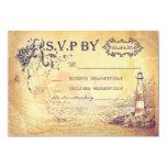 "Vintage lighthouse nautical wedding RSVP cards 3.5"" X 5"" Invitation Card"