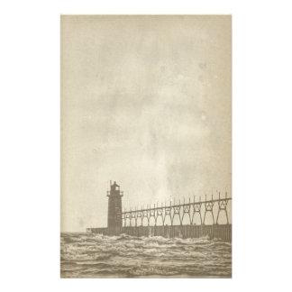 Vintage Lighthouse Paper Stationery
