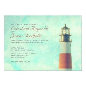 Vintage Lighthouse Wedding Invitations 5