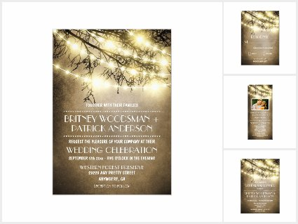 Vintage Lights Rustic Tree Wedding Collection