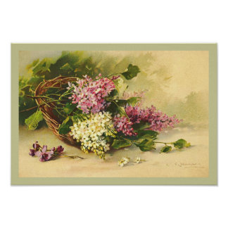 Vintage Lilac Basket by Catherine Klein Print