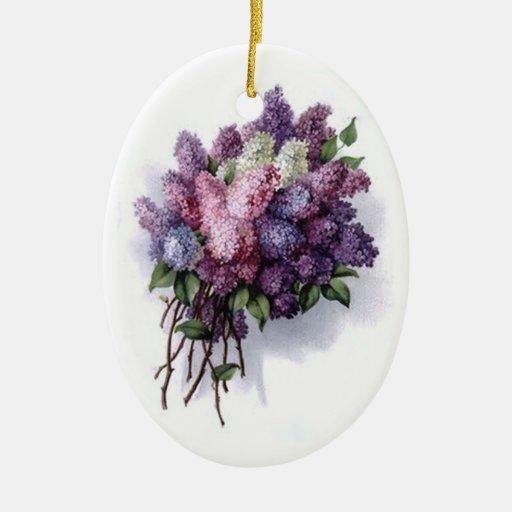 Vintage Lilac Bouquet Ornament