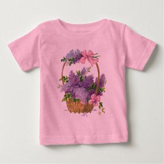 Vintage Lilacs Antique Flower Bouquet Baby T-Shirt