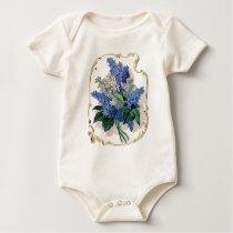 Vintage Lilacs Baby Bodysuit