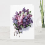 "Vintage Lilacs Birthday Card<br><div class=""desc"">Vintage Lilacs ""Happy Birthday"" greeting card. Check out all these other great gift ideas! Customize or personalize any of these items by adding your own text such as names, places or things as well as adding your own graphics to create a unique and original items, office products or gift ideas...</div>"
