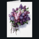 """Vintage Lilacs Birthday Card<br><div class=""""desc"""">Vintage Lilacs &quot;Happy Birthday&quot; greeting card. Check out all these other great gift ideas! Customize or personalize any of these items by adding your own text such as names, places or things as well as adding your own graphics to create a unique and original items, office products or gift ideas...</div>"""