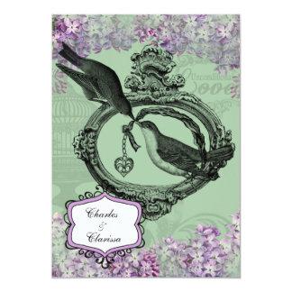 Vintage Lilacs Locket 5x7 Invitation