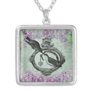 Vintage Lilacs  Necklace