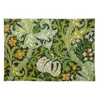 Vintage Lilies Garden Flowers Wallpaper Place Mats