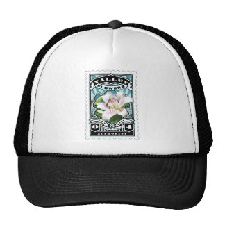 Vintage Lilly Stamp Art Trucker Hat