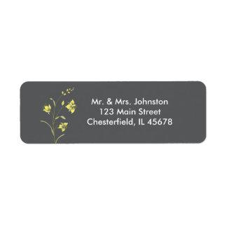 Vintage Lily Address label