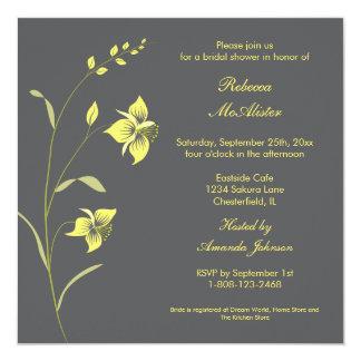 Vintage Lily Bridal Shower Invitation