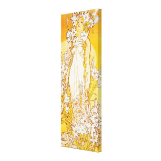 Vintage Lily by Alphonse Mucha Canvas Print