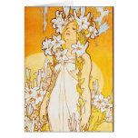 Vintage Lily by Alphonse Mucha Stationery Note Card