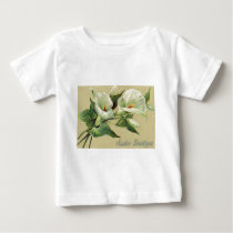 Vintage Lily Easter Card Baby T-Shirt
