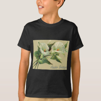 Vintage Lily Easter Card T-Shirt